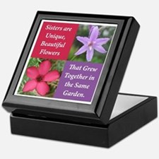 Sisters from the Same Garden Design Keepsake Box