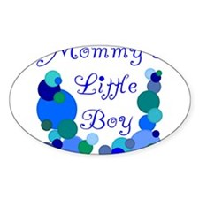 Mommy's Little Boy Oval Decal