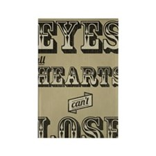 12x18 Clear Eyes Full Hearts Rectangle Magnet