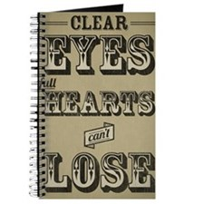 12x18 Clear Eyes Full Hearts Journal