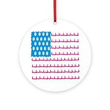EMS flag Round Ornament
