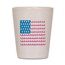 EMS flag Shot Glass