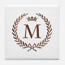 Napoleon initial letter M monogram Tile Coaster
