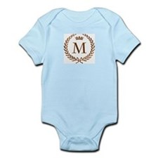 Napoleon initial letter M monogram Infant Creeper