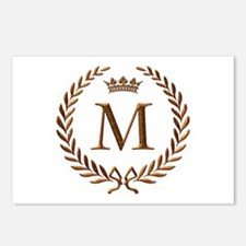 Napoleon initial letter M monogram Postcards (Pack