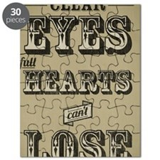 23x35 Clear Eyes Full Hearts Puzzle