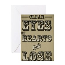 23x35 Clear Eyes Full Hearts Greeting Card
