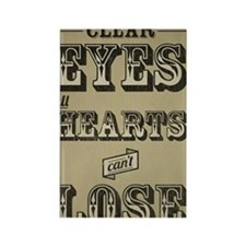 23x35 Clear Eyes Full Hearts Rectangle Magnet