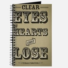 Clear Eyes Full Hearts w/bkg Journal