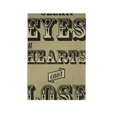 Clear Eyes Full Hearts Tall w/bkg Rectangle Magnet