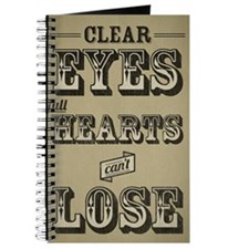 Clear Eyes Full Hearts Tall w/bkg Journal