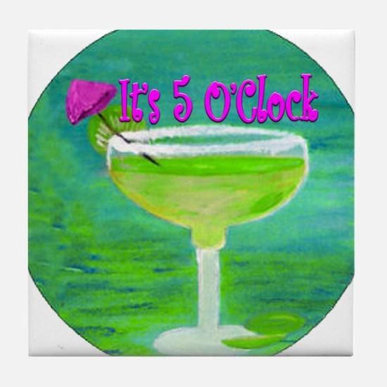 5 OClock Margarita Tile Coaster