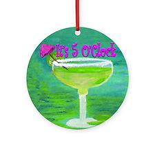 5 OClock Margarita Round Ornament
