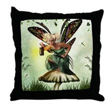 Shamrock Fae Throw Pillow