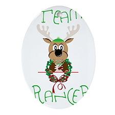 Team Prancer Oval Ornament