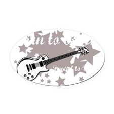 Born To Rock Oval Car Magnet