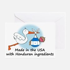 stork baby honduras 2 Greeting Card