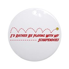 Schapendoes Play Ornament (Round)