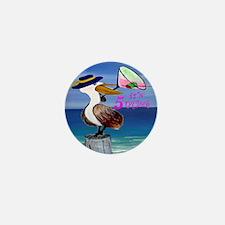 Its 5 OClock Martini Pelican Mini Button