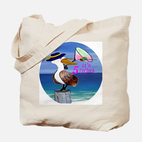 Its 5 OClock Martini Pelican Tote Bag