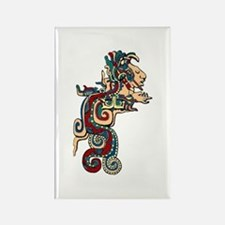 Mesoamerican Feathered Serpent Rectangle Magnets