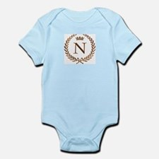 Napoleon initial letter N monogram Infant Creeper