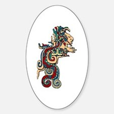 Mesoamerican Feathered Serpent Oval Decal