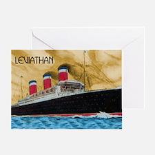 SS Leviathan Greeting Card