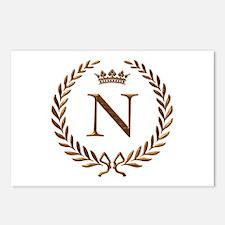 Napoleon initial letter N monogram Postcards (Pack