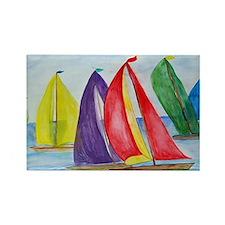 Colorful Regatta Sails Rectangle Magnet
