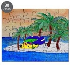 Island Camping Art Puzzle