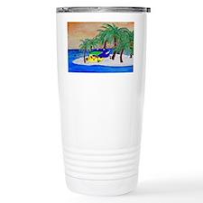 Island Camping Art Travel Mug