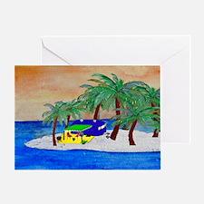 Island Camping Art Greeting Card