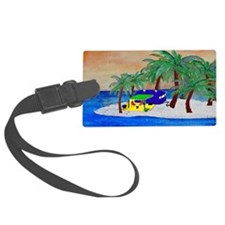 Island Camping Art Luggage Tag