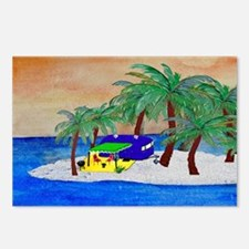 Island Camping Art Postcards (Package of 8)