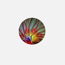 Fractal Bird of Paradise Mini Button