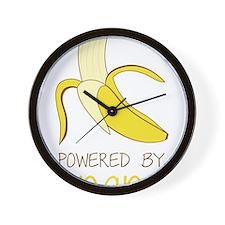 Powered By Bananas Wall Clock