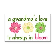 Grandma's Love Rectangle Car Magnet