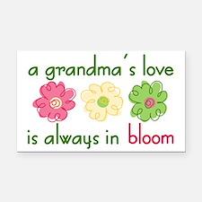 Grandma's Love Rectangle Car Magnet