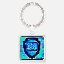 Olympian Shield Square Keychain