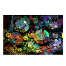 Fractal 3D Bubble Garden Postcards (Package of 8)