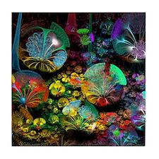 Fractal 3D Bubble Garden Tile Coaster