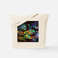 Fractal 3D Bubble Garden Tote Bag