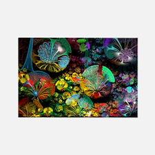 Fractal 3D Bubble Garden Rectangle Magnet