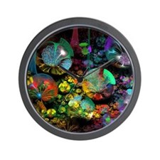 Fractal 3D Bubble Garden Wall Clock