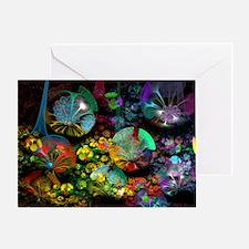 Fractal 3D Bubble Garden Greeting Card