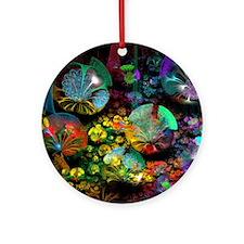 Fractal 3D Bubble Garden Round Ornament