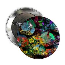 """Fractal 3D Bubble Garden 2.25"""" Button"""