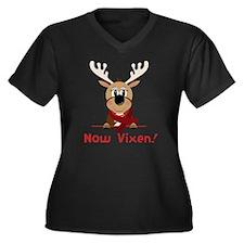 Now Vixen Women's Plus Size Dark V-Neck T-Shirt
