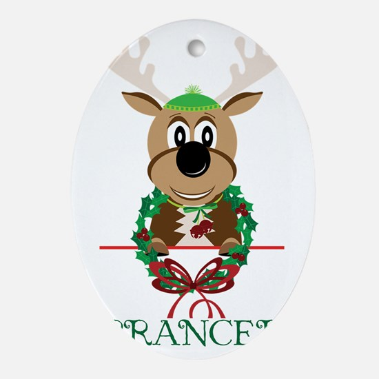 Prancer Oval Ornament